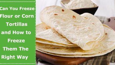 can you freeze flour tortillas corn tortillas